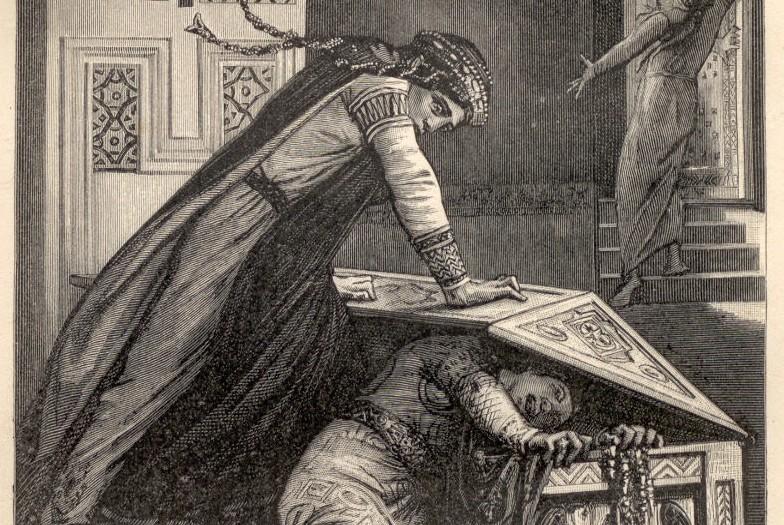 Fredegunda trata de matar a Rigunta - Vieilles histoires de la Patrie - Henriette Guizot de Witt - 1887