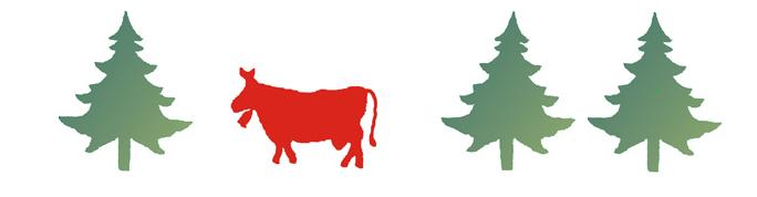 vaches sapins