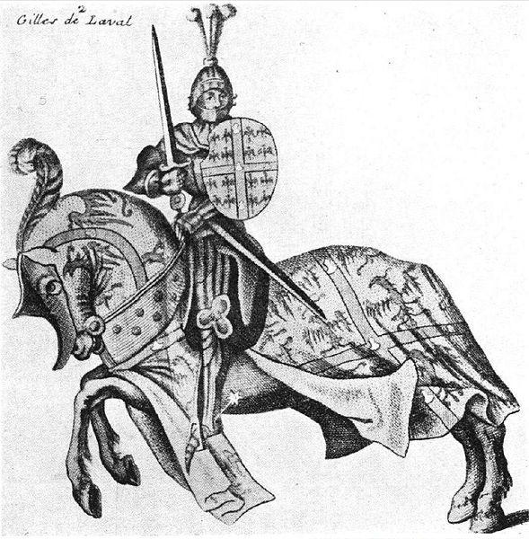 Ceci est la seule représentation de Gilles de Raie de son vivant, les autres sont de plus fictives et imaginatives