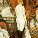 femme nue devant sa glace