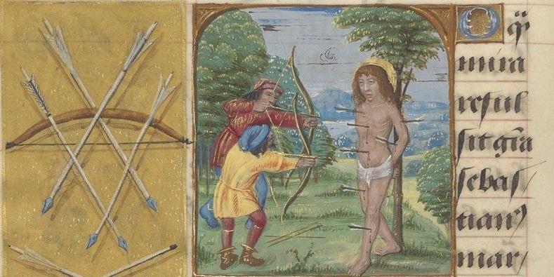 Le martyre de Saint Sebastien