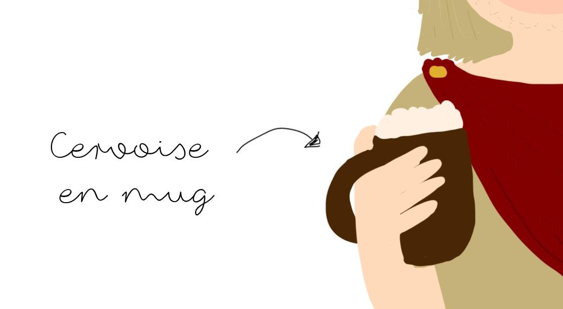 cervoise en mug