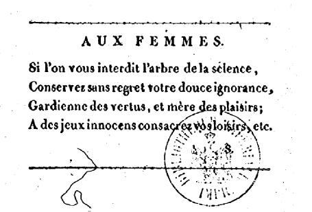 1801 Aux femmes