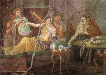 Les excès de boire et de manger à Rome