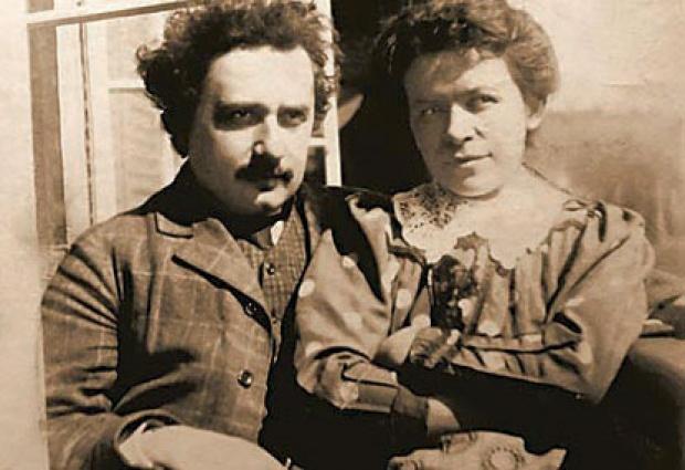 Couple Albert Einstein et Mileva Maric