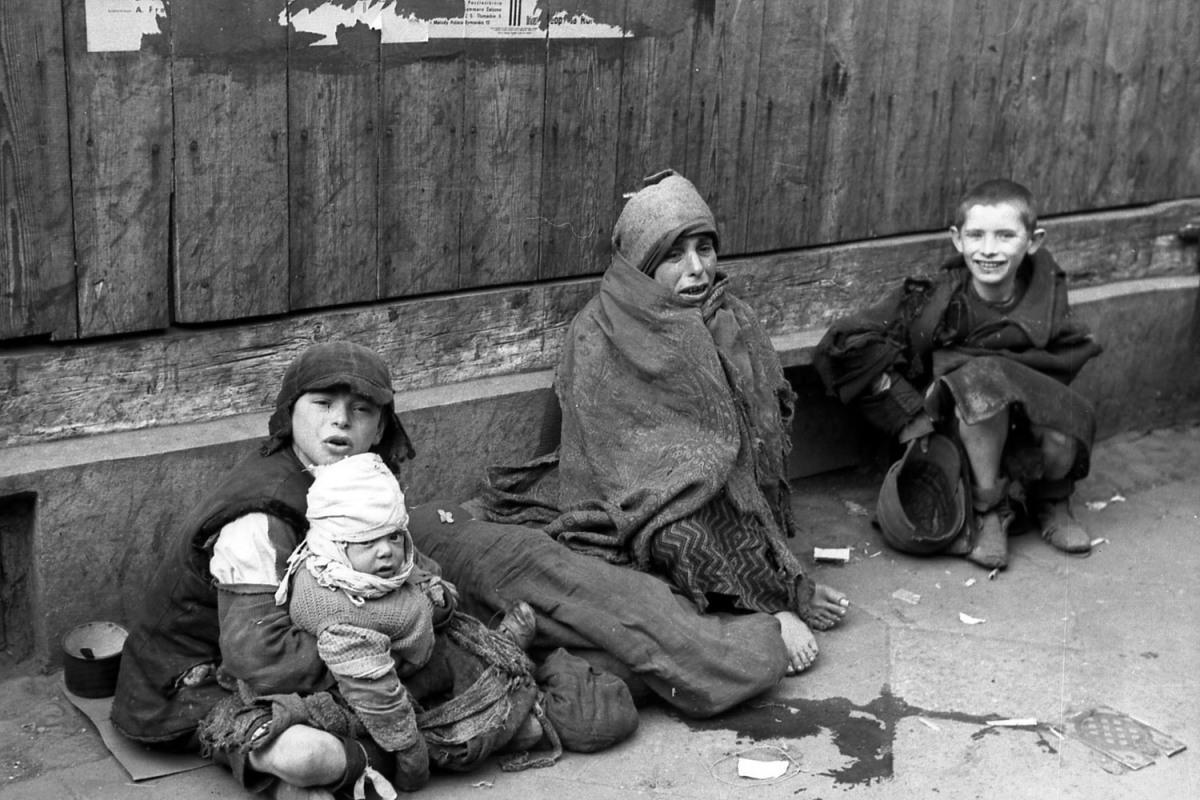Polen, Ghetto Warschau, Straßenszene