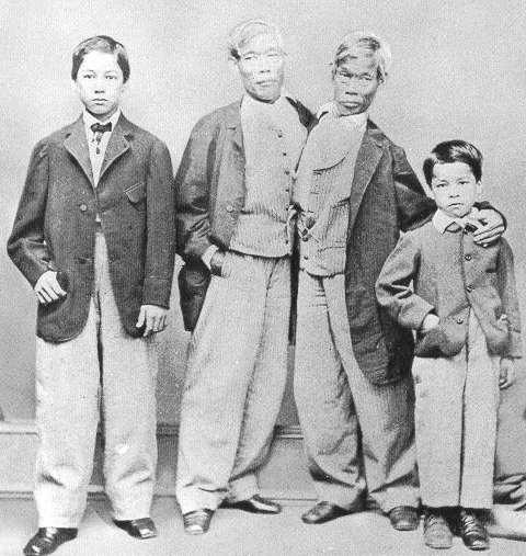 Famille Bunker, les siamois Eng et Chang