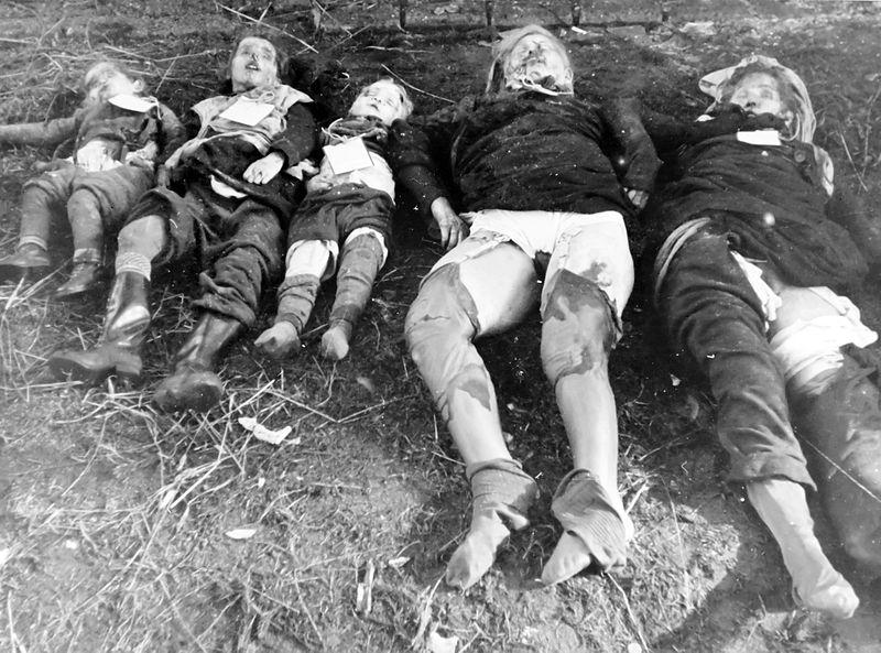 Famille allemande tuée (et femmes violées) par l'Armée Rouge