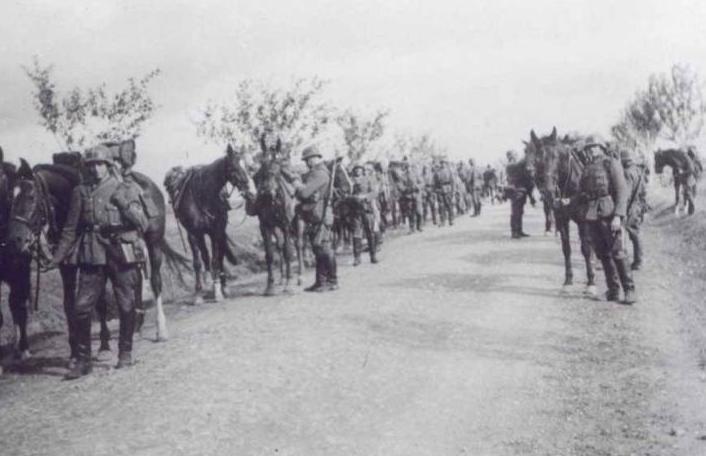 les soldats en déplacement