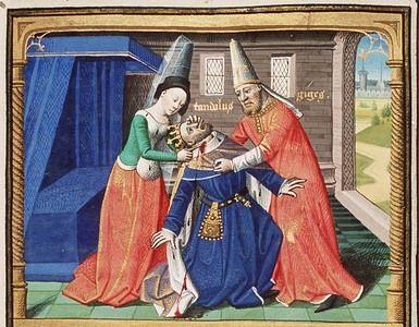 Candaule, sa femme et Gygès