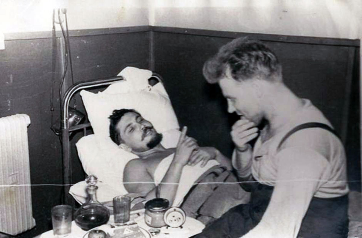 Dr. Leonid Rogozov operating himself to remove his appendix in Antarctica, 1961 (1)