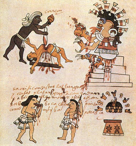 sacrifice humain azteque