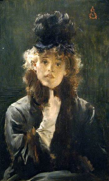Alfred Stevens - Victorine Meurent Sphinx Parisien