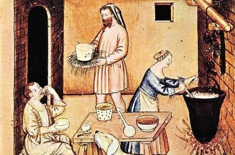 fabrication-de-fromage-au-moyen-age
