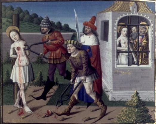 représentation de Sainte Agathe, mais c'est l'idée quoi...