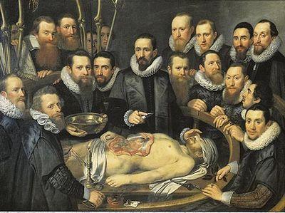 Michiel Jansz van Mierevelt (1617) Lección de Anatomía del Dr. Willem van der Meer