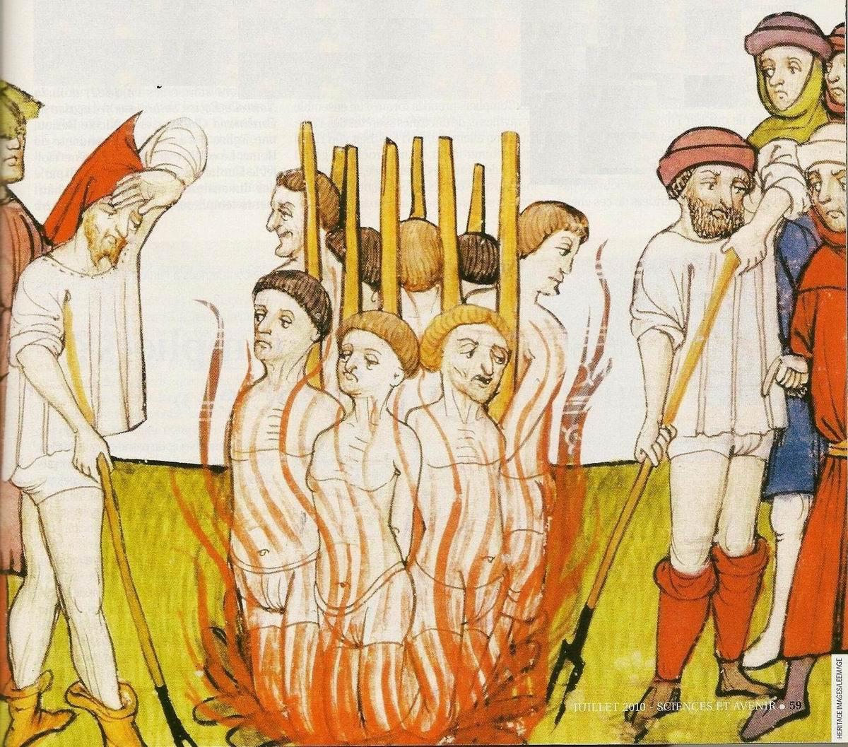 Grandes Chroniques de France, Bucher de Templiers
