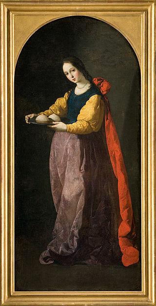 Sainte Agathe - Francisco de Zurbarán