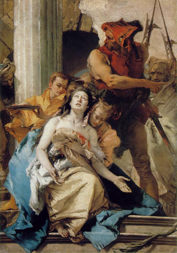Martyrium der Heiligen Agathas