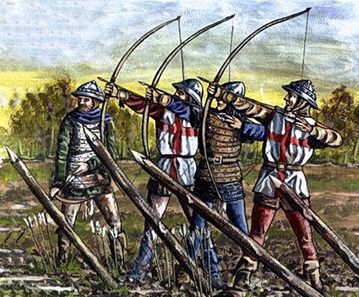 Les archers anglais...