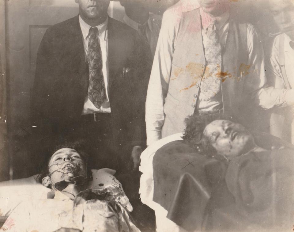 Les cadavres de Clyde et Bonnie